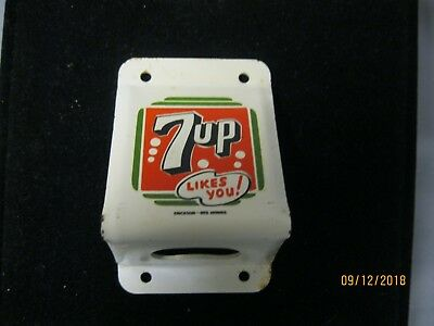 """7 Up Vintage Bottle Opener With """"likes You!"""" Slogan"""