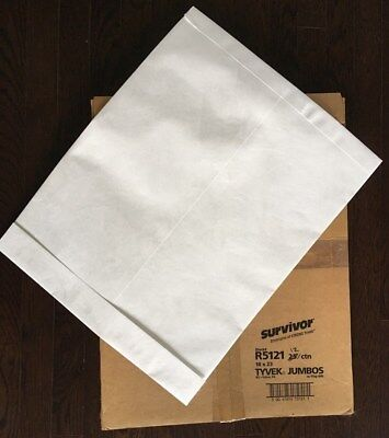Survivor Tyvek Jumbo Mailer, Side Seam, 18 x 23, White,12/Box (R5121)