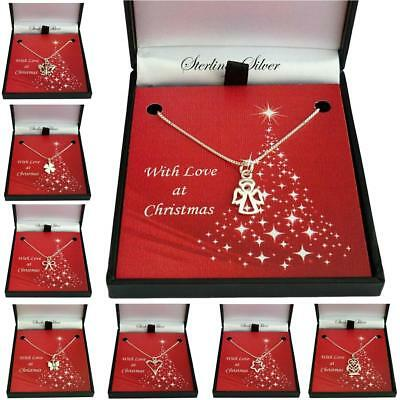 Christmas Necklaces for Women and Girls, 925 Sterling Silver. Christmas Gifts.