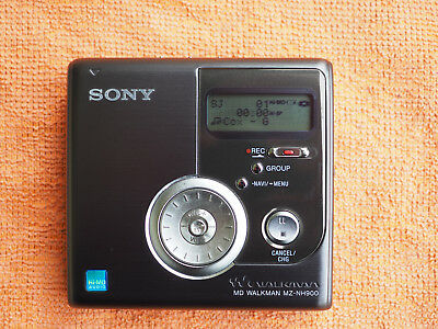 Sony MiniDisc / Hi-MD Recorder MZ-NH900 black inkl. 4 HiMD in sehr gutem Zustand