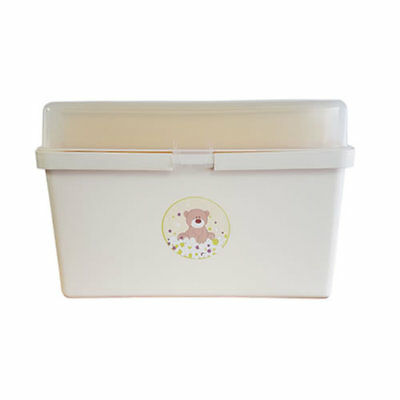 Brand new in box The neat nursery teddy bear baby box organiser Cream and Yellow