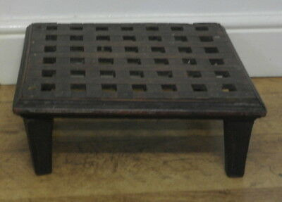 antique mahogany STOOL LUGGAGE RACK ships plant stand low table