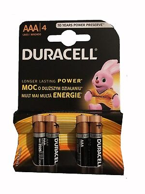12x Duracell AAA Alkaline battery LR03 MN2400 Duralock 1.5V Longer Lasting Power