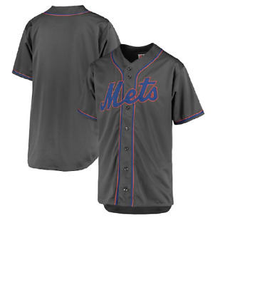 MLB Majestic Big & Tall New York Mets Grey Baseball Jersey New Mens Sizes