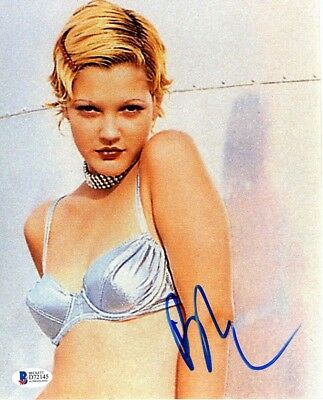 Drew Barrymore Sexy Bra Autographed Signed 8x10 Photo Authentic BAS COA AFTAL