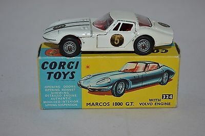 CORGI TOYS  324  Marcos 1800 G.T. with volvo engine. Exellent plus in box.