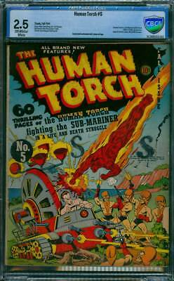 Human Torch # 5  Human Torch vs Sub-Mariner !  CBCS 2.5 scarce GA Timely !