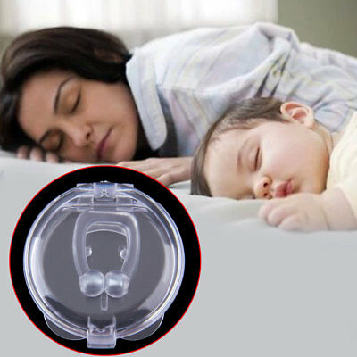 Stop Snoring Anti Snore Nose Clip Apnea Guard Care Tray Sleeping AidDY