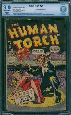 Human Torch # 29  You'll Die Laughing !  CBCS 3.0 scarce GA Timely !