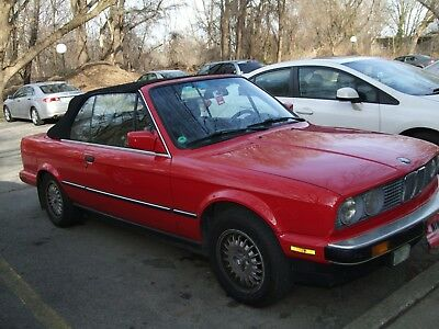 1987 Bmw 325i Convertible E30 3 Series Red Body Black Top Automatic Transmission