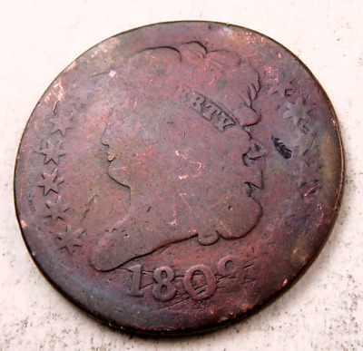 1809 Classic Head Half Cent // Good-AG (rotated rev.) // (HC347)