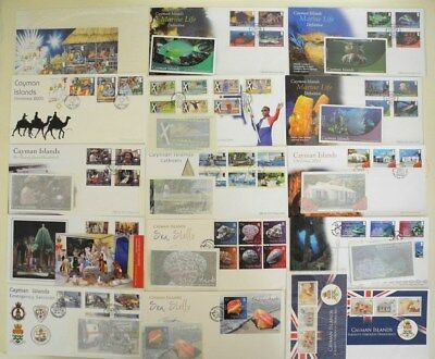 CAYMAN ISLANDS 15# FDC's, SOUVENIR SHEETS AND BOOKLETS MARINE LIFE SPORTS OTHER