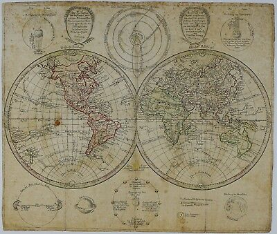 World Map 1791 Rare Copper Engraving Antique Map Of The World J. G. Klinger