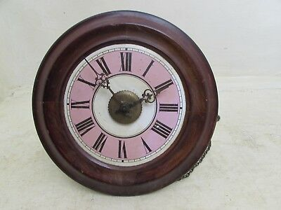 Antique Postman's Alarm Wag On The Wall Clock For Spares & Repairs