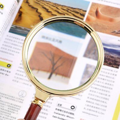 Classic 90mm Handheld 10X Magnifier Magnifying Glass Loupe Reading JewelryDY