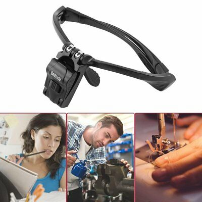 Headband Magnifier LED Magnifying Glass with 5 Lens for Repairing ReadingDY