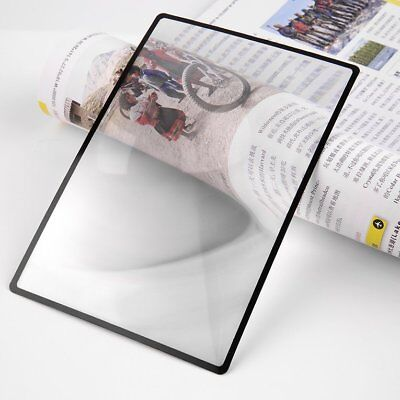 3X PVC Magnifier Sheet Book Page Magnifying Glass Reading Magnification DeviceDY