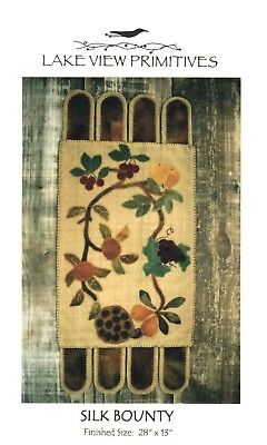 Silk Bounty Penny Rug Pattern-Lakeview Primitives