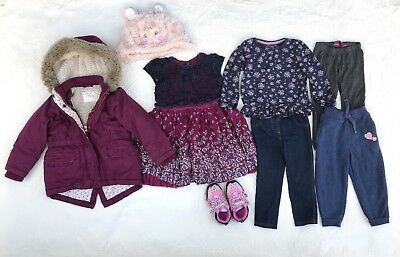 Baby Girl Clothes Large Bundle Size 18-24 Months Autumn Winter Jacket Trainers