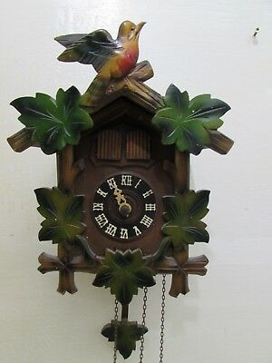 Vintage Triple Weight Cuckoo Clock For Repair Div.Pat.u.G.M.angem With Musical
