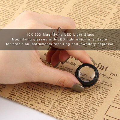 10X / 20X LED Light Magnifier Glasses Type Eye Glass Loupe for Watch RepairDY