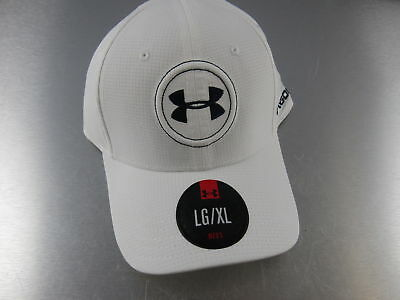 Under Armour Golf Hat Cap White Blue Fitted LG XL Large Extra Large NEW 4d3b16ccb6cc