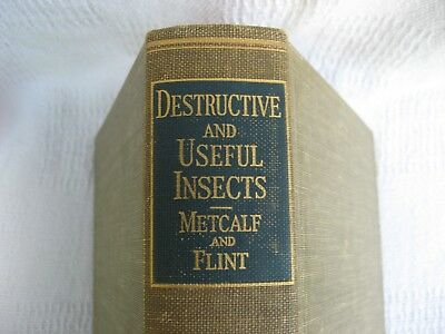 Old 1939 Book-Destructive & Useful Insects by C.L.Metcalf/W.P.Flint-EntomologyVG
