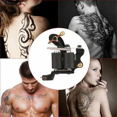 Tattoo Gun Needles Power Supply Cord Body Beauty Tools with Portable CaeDY