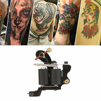 Tattoo Gun Needles Power Supply Cord Body Beauty Tools with Portable CaseDY