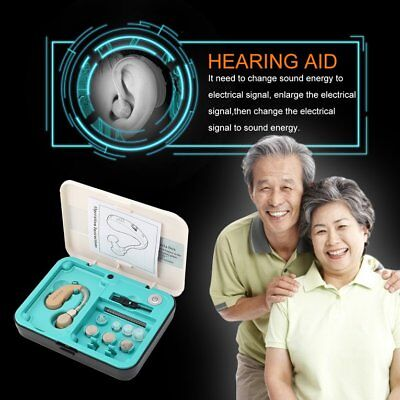 Behind Ear Hearing Aid Kit Sound Amplifier Device Sound Enhancer KXW-212DY