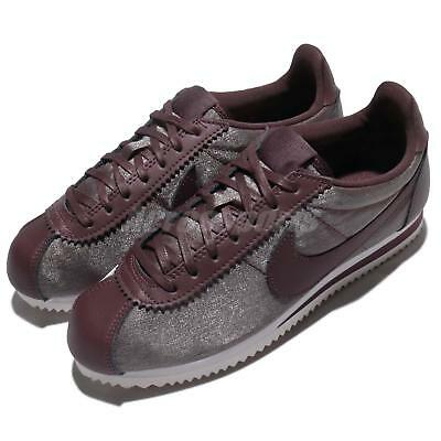 Nike Wmns Classic Cortez PREM Metallic Mahogany Red Brown Women Shoes 905614-900