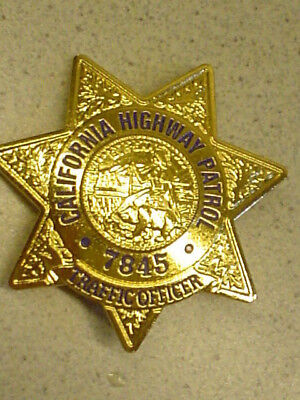 California Highway Patrol Traffic Officer US Police Stern Sheriffstern Abzeichen