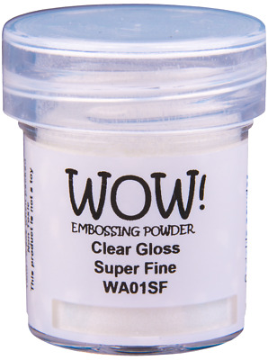 WOW! CLEAR EMBOSSING POWDERS - 5 OPTIONS - free UK p&p on additional pots