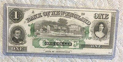 Uncirculated 1865 $1 Bank Of New England At Godspeed's Landing