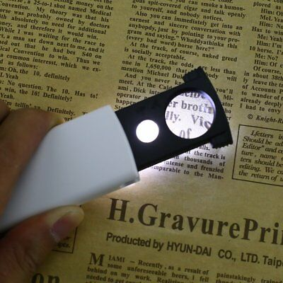 20x 45x Dual Lens Mini Pull-type LED Magnifier for Reading Jewelry AppraisalDY
