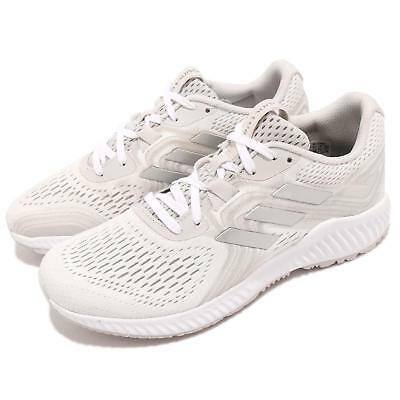 official photos b073c 08a45 adidas Aerobounce 2 W White Grey Silver Women Running Shoes Sneakers AQ0541