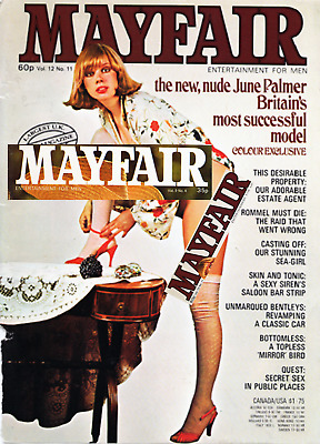 Mayfair Magazine 1974-1977 PDF Format Scans on DVD Disc  - 11 issues