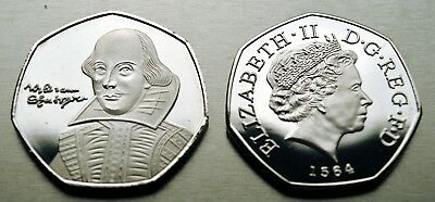 WILLIAM SHAKESPEARE Commemorative Coin for Albums/Collectors/Coin Hunt 50p NEW