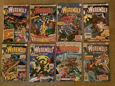 Werewolf By Night Bronze Age Comic Book Lot of 8 Vintage Comics Marvel 1973