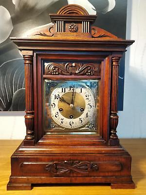 Stunning German Large Bracket Clock With Westminster Chimes By Junghans G.W.O