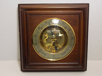 Vintage German Sundo Precision Barometer Weather Station Wall Plaque