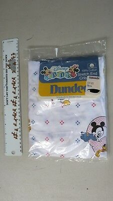 """Dundee Disney Babies Fitted Crib Sheet 1984 Vintage NEW 28"""" x 52"""" mattress size"""