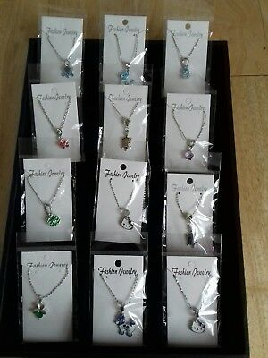 12 New Necklaces Carded And Bagge
