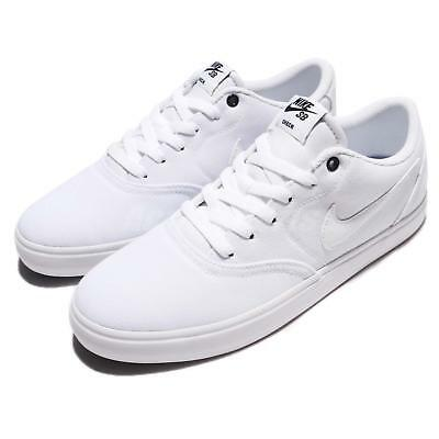 san francisco a9dac 8236f ... Nike SB Check Solar CNVS Canvas White Men Skate Boarding Shoe Sneaker  843896 110