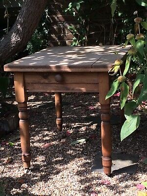 Old Vintage / antique Scrub Top Pine Kitchen / Dining Table