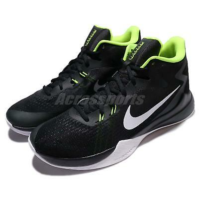 various colors 81039 7ec47 Nike Zoom Evidence Black White Volt Men Basketball Shoes Sneakers 852464-006