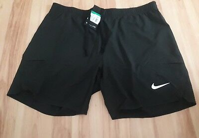 Nike Men's Tennis Shorts Size XL Black 7 inches 887517-010