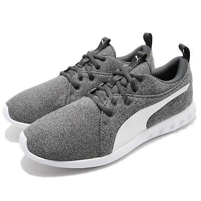Puma Carson 2 Knit NM Grey White Men Casual Walking Shoes Sneakers 191084-03 c6abfc334