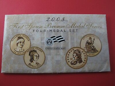 2008 First Spouse Bronze Medal Series Four-Medal Set