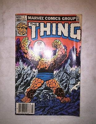 Marvel Comics Group - The Thing Vol 1 No 1 July 1983 - vintage comic  #A617